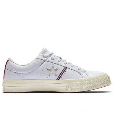 ONE STAR PIPING LOW TOP White