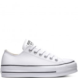 Chuck Taylor All Star Lift Clean Leather Low Top White