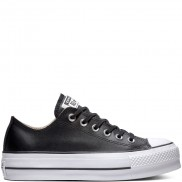 Chuck Taylor All Star Lift Clean Leather Low Top Black