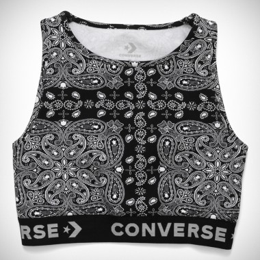 Converse x Miley Cyrus Bandana Bra Top Black Multi