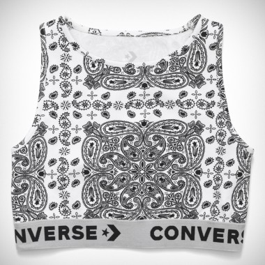 Converse x Miley Cyrus Bandana Bra Top White Multi