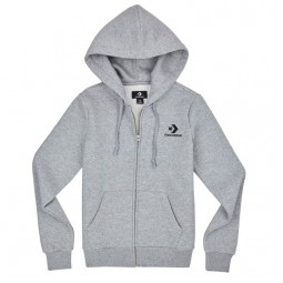 WOMEN'S STAR CHEVRON EMBROIDERED FULL-ZIP HOODIE Vintage Grey