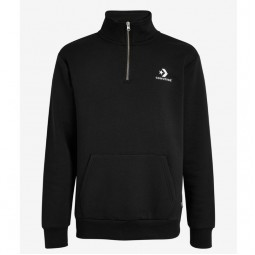 Converse STAR CHEVRON HALF ZIP Sweatshirt BLACK