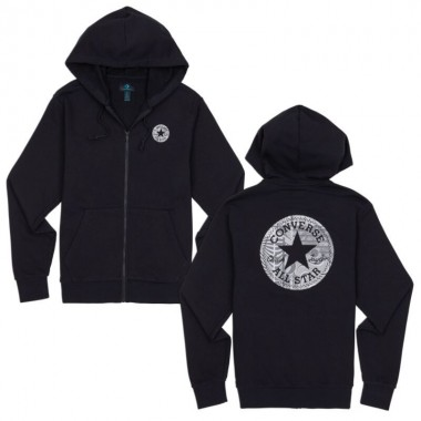 Converse Chuck Patch Graphic FZ Hoodie Black