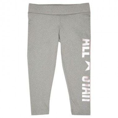 Girls Metallic All Star Youth Legging Grey Heather