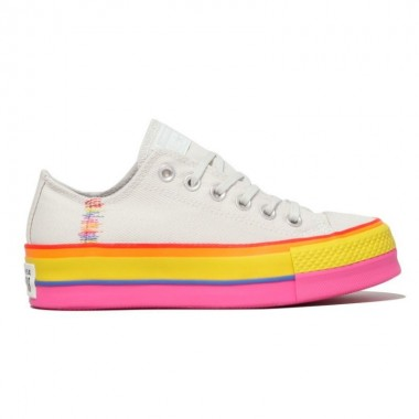 Chuck Taylor All Star Rainbow Platform Low Top