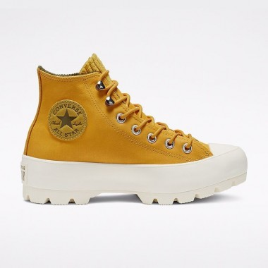 Chuck Taylor All Star Gore-Tex Lugged Waterproof Leather High Top Gold Dart/Olive Flak/Egret