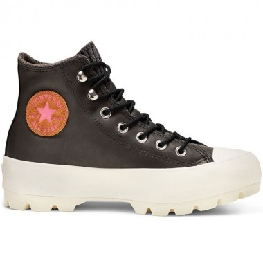 Chuck Taylor All Star Gore-Tex Lugged Waterproof Leather High Top Black/Mod Pink/Egret