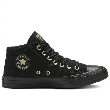Chuck Taylor All Star Madison Mid-Calf Black/Gold Женски