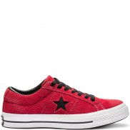 One Star Dark Star Vintage Suede Low Top Enamel Red