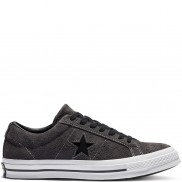 One Star Dark Star Vintage Suede Low Top Almost Black