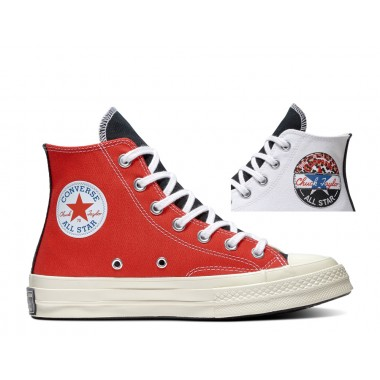 CHUCK 70 HI WHITE/UNIVERSITY RED