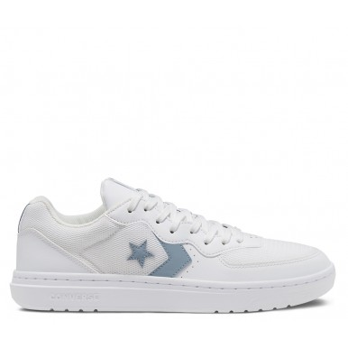 CONVERSE RIVAL SYNTHETIC LEATHER WHITE/BLUE SLATE/WHITE OX