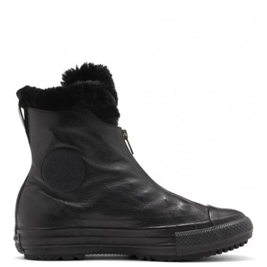 Converse all star hi rise boot lethaer Black