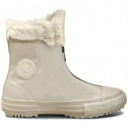 Converse all star hi rise boot lethaer White