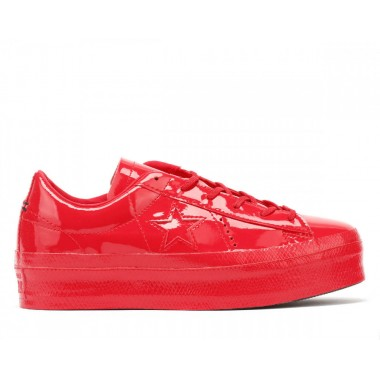 Converse One Star Womens Cherry Red Platform Ox