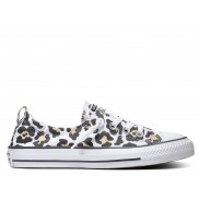 Shoreline Slip Leopard Chuck Taylor All Star Low Top in White