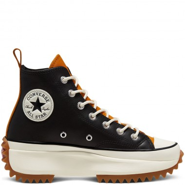 Run Star Hike High Top Black Leather