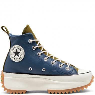 Run Star Hike High Top Slate Blue Leather