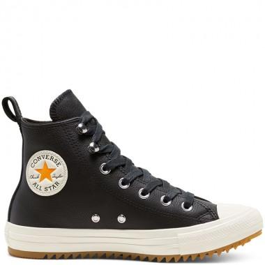 Women's Leather And Warmth Chuck Taylor All Star Hiker High Top Black