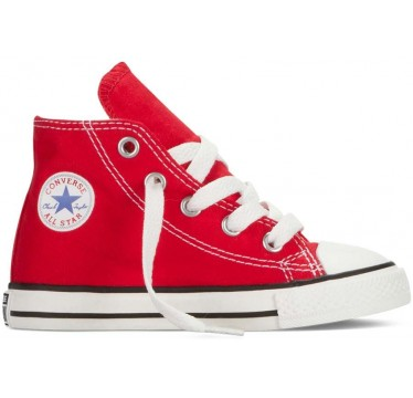 CHUCK TAYLOR ALL STAR Hi TOP INFANT/TODDLER red