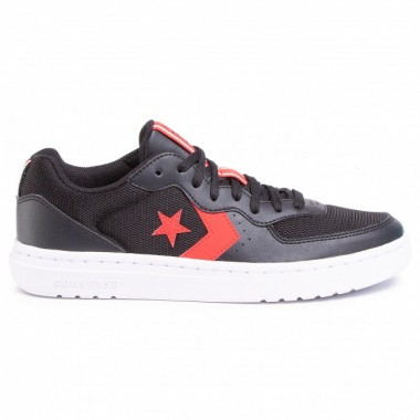 CONVERSE Rival Ox Black/University Red/White