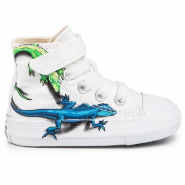 Chuck Taylor All Star High Top Infant/Toddler in White/Sedona