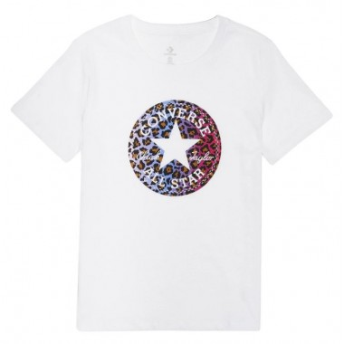 Leopard Infill Chuck Patch Tee White
