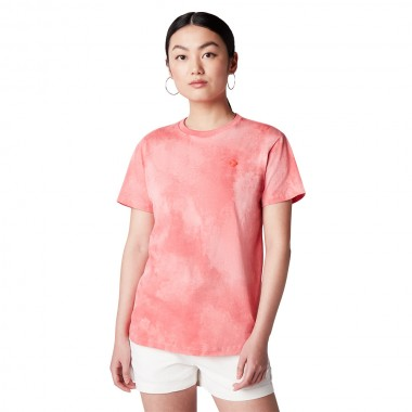 Wash Effect Relaxed Tee Teraccota Pink
