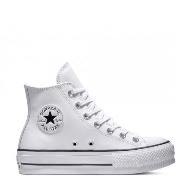 Converse Chuck Taylor All Star Leather Lift High Top White