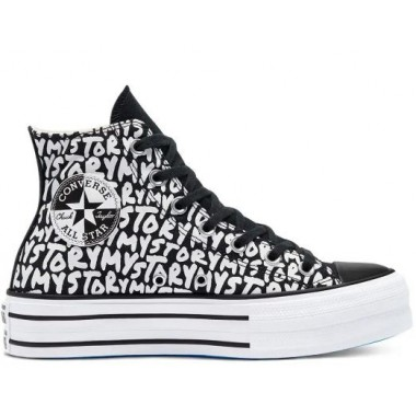 Chuck Taylor All Star My Story Plataforma Hi Black/White