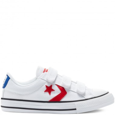 Varsity Canvas Easy-On Star Player Low Top White/Red