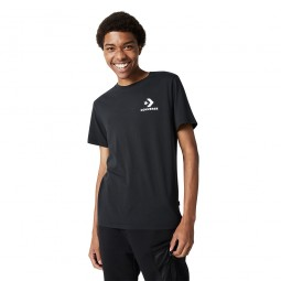 Stacked logo t-shirt/CONVERSE BLACK