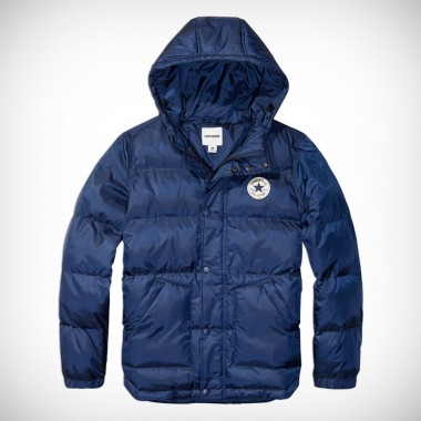 Men's Short Hooded Puffer Jacket Nighttime Navy