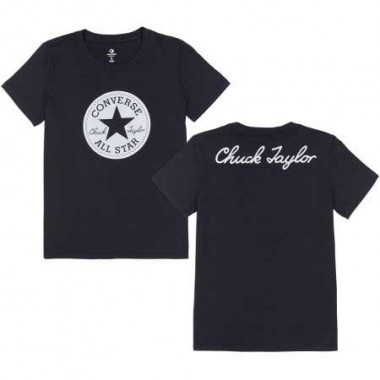 CHUCK PATCH CREW TEE Black
