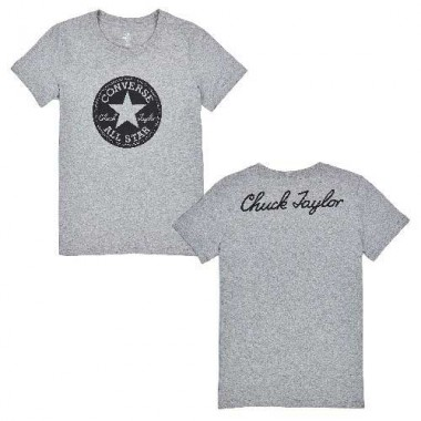 CHUCK PATCH CREW TEE Grey