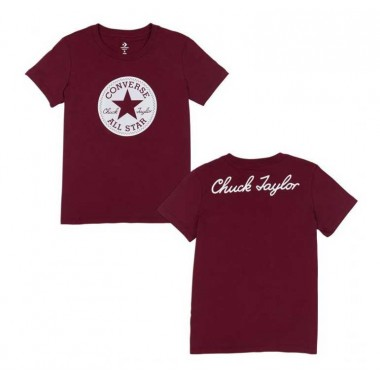 CHUCK PATCH CREW TEE Burgundy