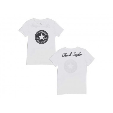 CHUCK PATCH CREW TEE Optical White