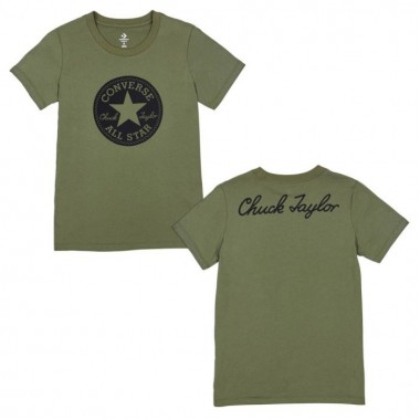 CHUCK PATCH CREW TEE Hunter Green