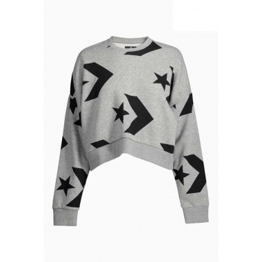 AOP StarChev Cropped Crew Grey