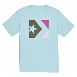 CONVERSE STAR CHEVRON BOX TEE TEAL TINT