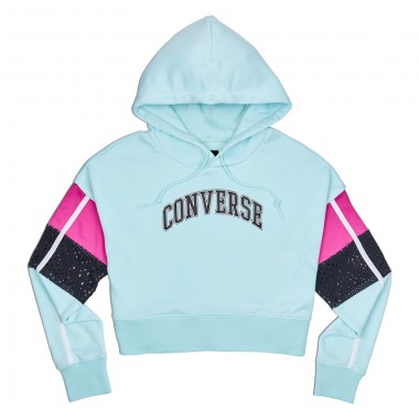Converse Womens Basketball Mashup Mid Hoodie Blue