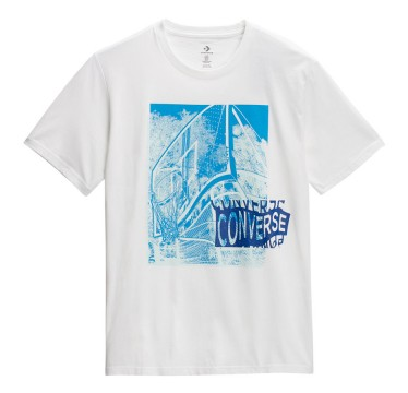 CONVERSE Men Hoop There It Is Photo Tee White