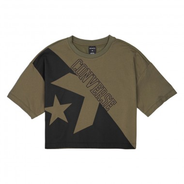CONVERSE LINEAR WORDMARK BOXY TEE Hunter Green