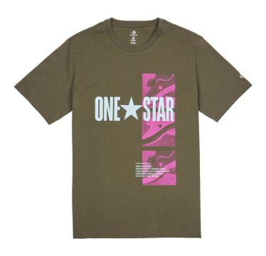 CONVERSE ONE STAR PHOTO TEE GREEN