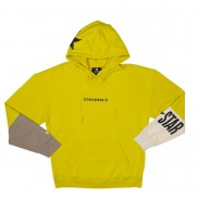 Men One Star Block Pack Pullover Hoodie Bold Citron