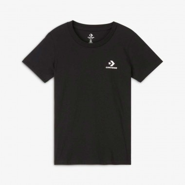 WOMEN'S STAR CHEVRON SMALL CHEST LOGO T-SHIRT Black