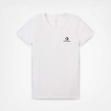 WOMEN'S STAR CHEVRON SMALL CHEST LOGO T-SHIRT White