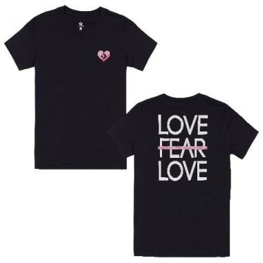 Converse LOVE THE PROGRESS TIEBACK TEE Black