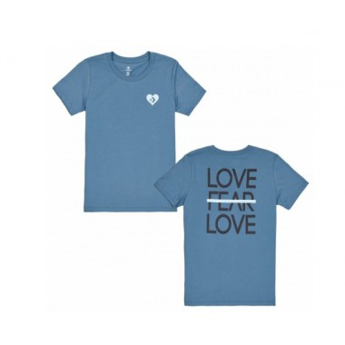 LOVE THE PROGRESS TIEBACK TEE Azure blue
